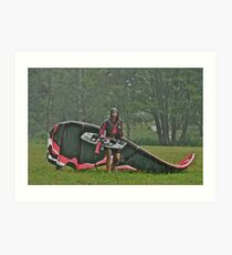 Man In the Rain . Handsome  Viking kitesurfer in action . by Brown Sugar. F* Views (410) favorited by (1) thank you very much ! Art Print