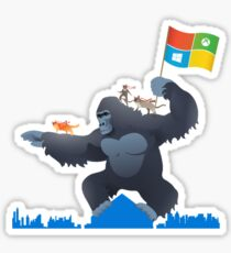 Ninjacat King Kong Gorilla Sticker