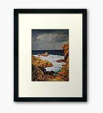 Golden moment  -  eye catcher . Costa Paradiso . Sardegna. Italy . Bella Italia . Saluti Cari Amici !!! by Brown Sugar . Views 1027 . ) OK.ok!!! Framed Print
