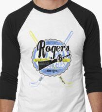 usa hockey tshirt by rogers bros co Men's Baseball ¾ T-Shirt