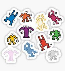 haring dancers Sticker