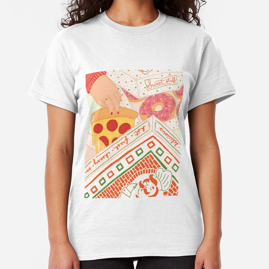 Donut Pizza Party Classic T-Shirt
