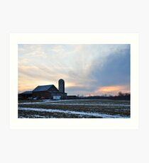 Parker City Farm sunset Art Print