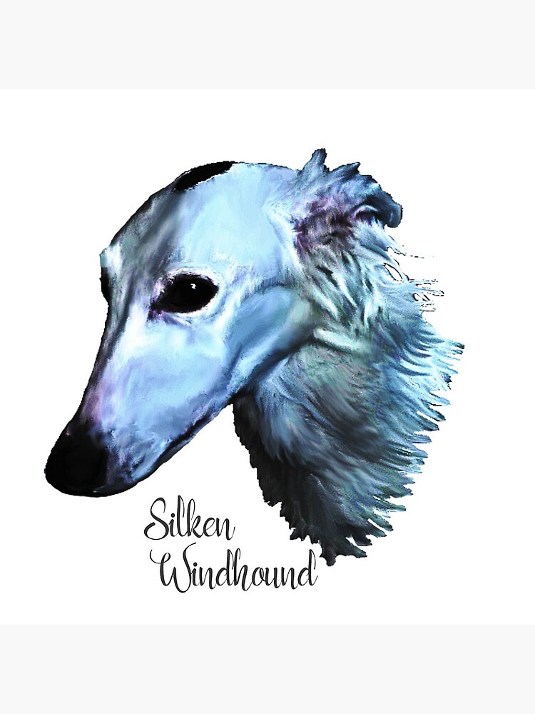 Silken Windhound In Blues by pawsinprofile