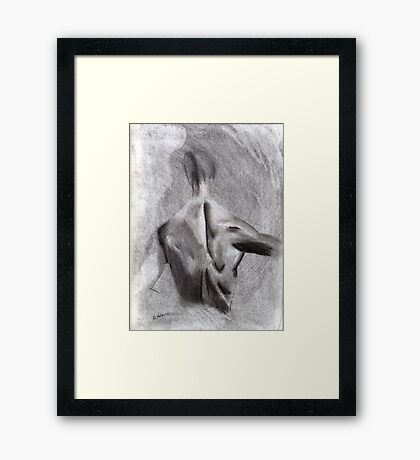 Man's Backside Framed Print