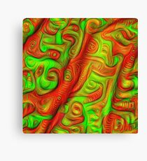 Green and red abstraction Canvas Print
