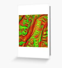 Green and red abstraction Greeting Card