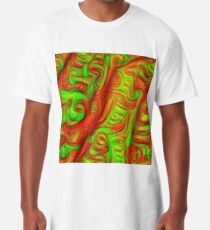 Green and red abstraction Long T-Shirt