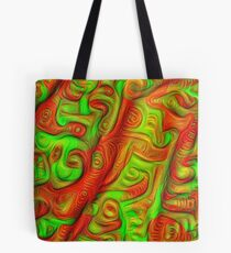 Green and red abstraction Tote Bag