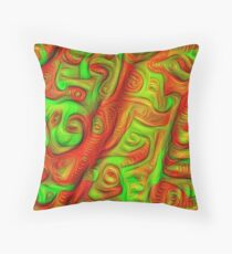 Green and red abstraction Throw Pillow