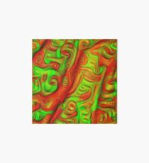 Green and red abstraction Art Board Print