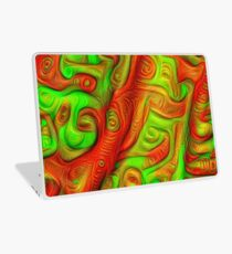 Green and red abstraction Laptop Skin