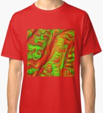 Green and red abstraction Classic T-Shirt