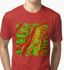Green and red abstraction Tri-blend T-Shirt