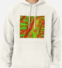 Green and red abstraction Pullover Hoodie