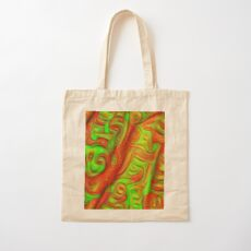 Green and red abstraction Cotton Tote Bag