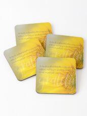 Gratitude Sunflower Coasters