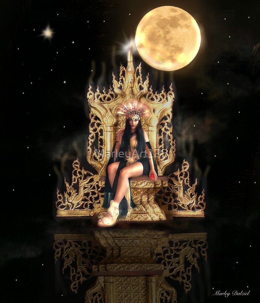 Queen of the Damned on her Throne by MarleyArt123