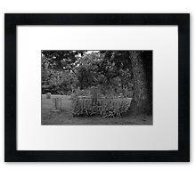 The Precious Stone Graveyard Stone Framed Print