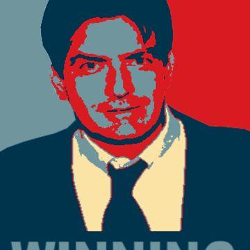 "Charlie Sheen ""Winning"" by BadSmile"