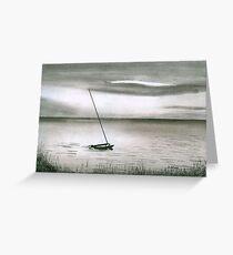 Catamaran at Sunset Greeting Card
