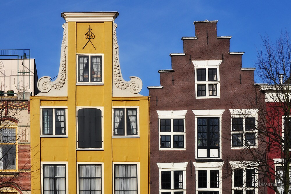 Colorful houses in Holland by Javimage