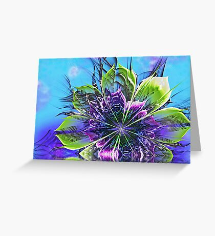 Reflections on Blue Greeting Card