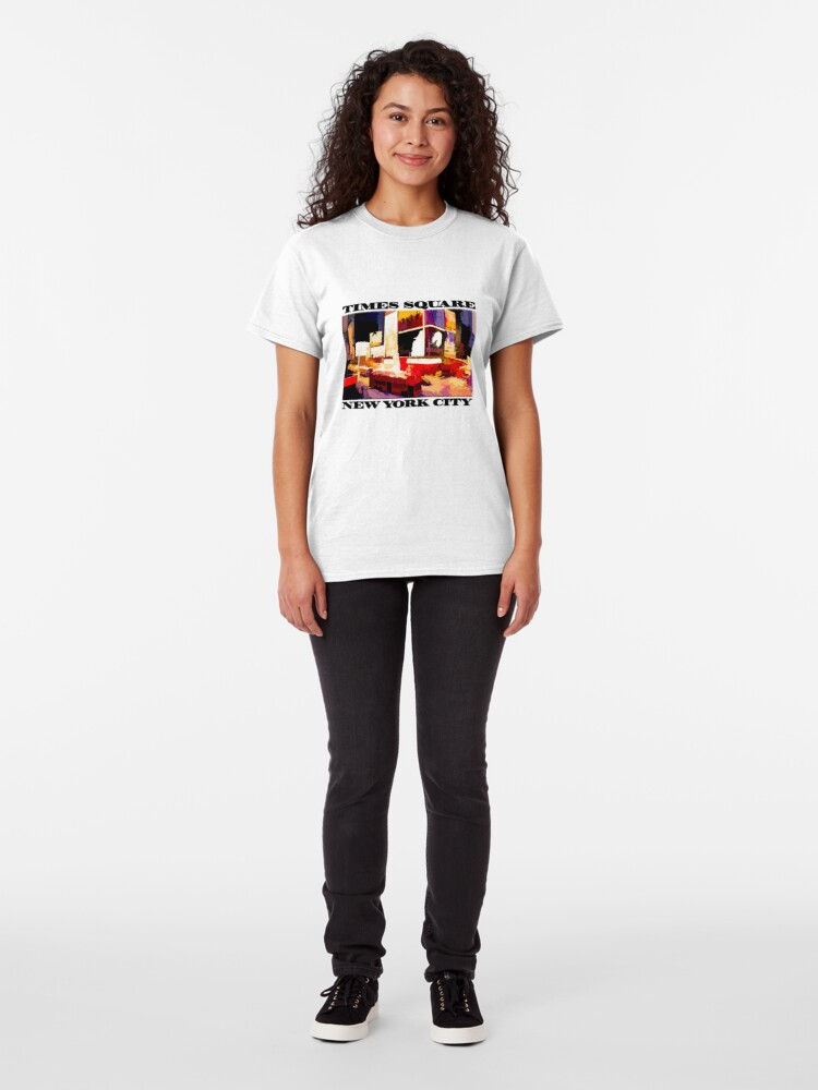Alternate view of Times Square II (abstract colour print) Classic T-Shirt