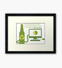 Recycled Glass Bottle Illustration  Framed Print