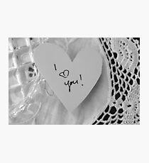 White Lace Love Photographic Print