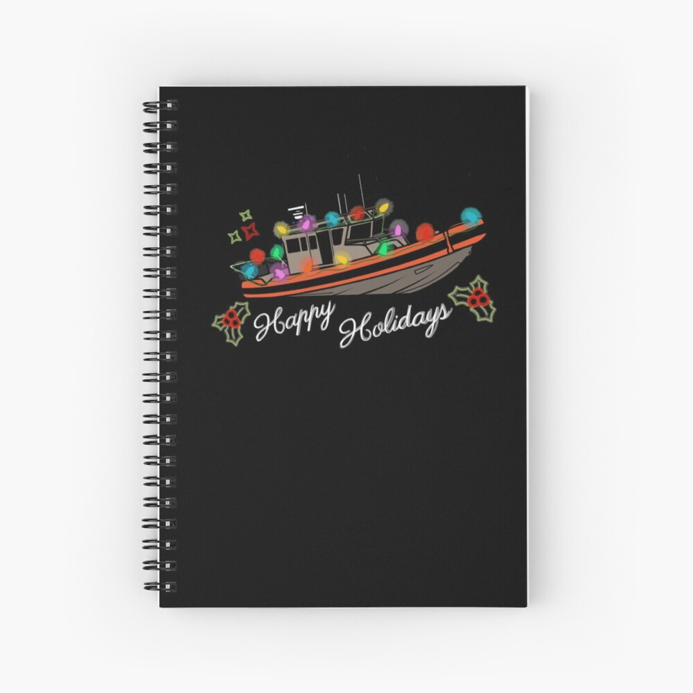 Coast Guard Lighted Boat Parade 33 SPC-LE Spiral Notebook