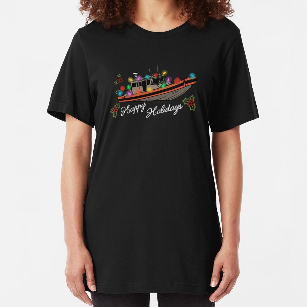 Coast Guard Lighted Boat Parade 33 SPC-LE Slim Fit T-Shirt