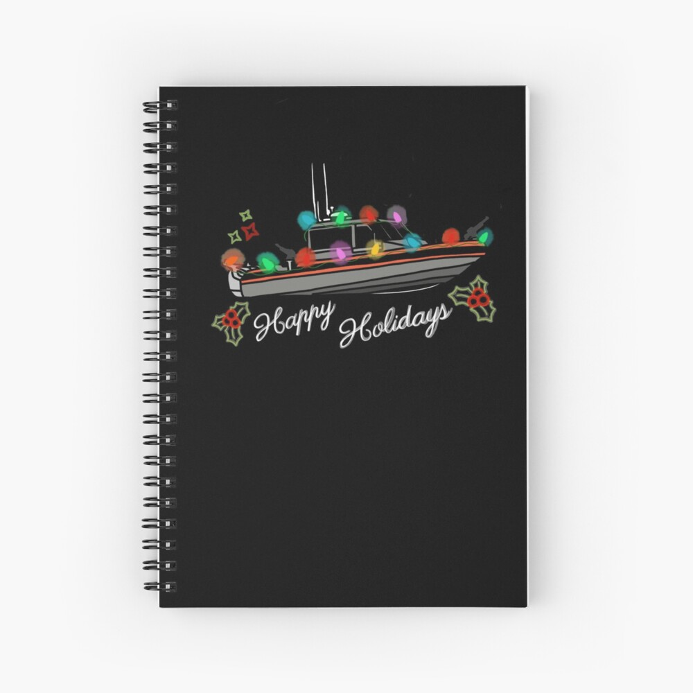 Coast Guard Lighted Boat Parade 29 RB-S II Spiral Notebook