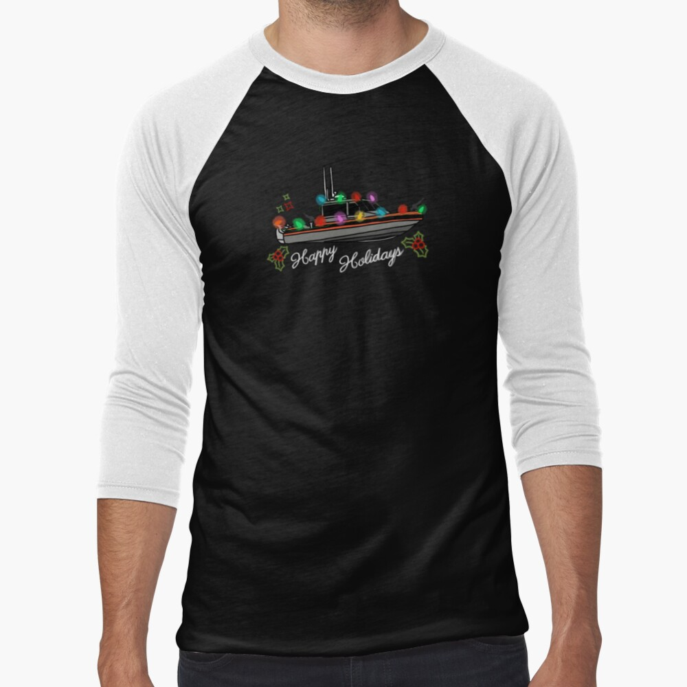 Coast Guard Lighted Boat Parade 29 RB-S II Baseball ¾ Sleeve T-Shirt