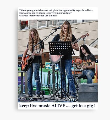 Get To A Gig ! 2 of ? Canvas Print