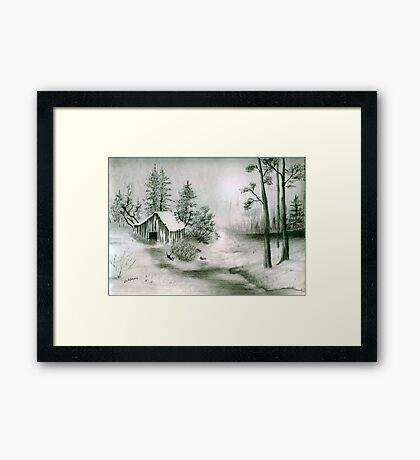 Hidden Shack Framed Print