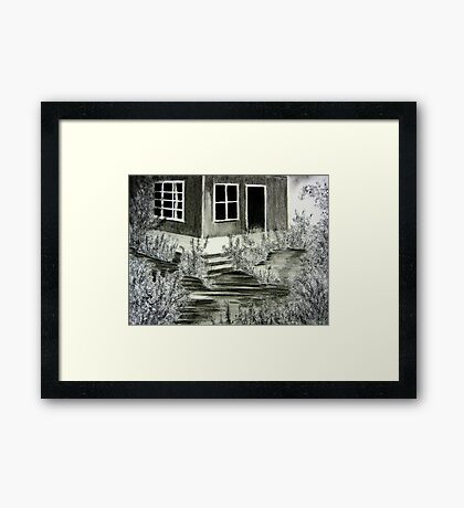 Garnener's Cottage Framed Print