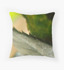 Closeup of a rose leaf Throw Pillow