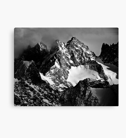 La Roche Méane, la Grande Ruine et le Pic Bourcet Canvas Print