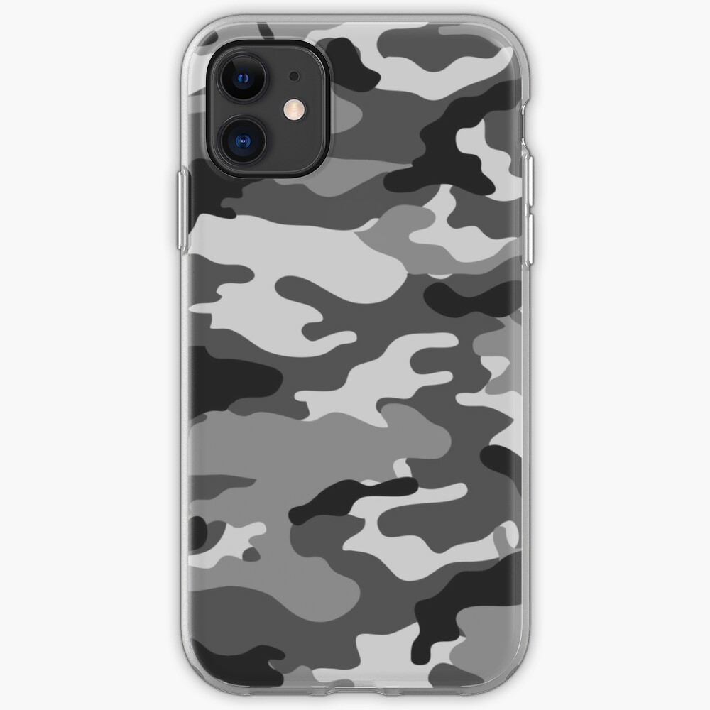 Gray Camo iPhone Soft Case