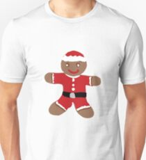 Santa Gingerbread Man Slim Fit T-Shirt