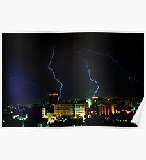 Lightning over Amman Poster