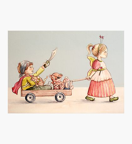 Super Pirate and the Fairy Princess Photographic Print