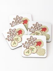 Decorated Christmas Cookies Coasters