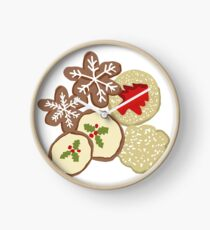 Decorated Christmas Cookies Clock