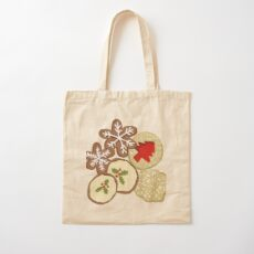 Decorated Christmas Cookies Cotton Tote Bag