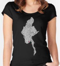 Myanmar Love Women's Fitted Scoop T-Shirt