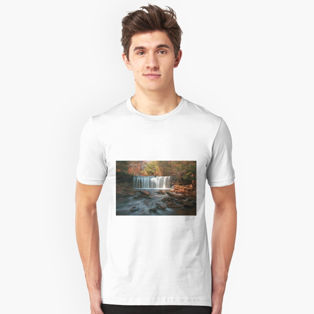 October Morning at Oneida Falls Unisex T-Shirt Front