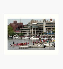Dragon Boat Race Plate # 0063 Art Print