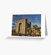 Bunratty Castle and Durty Nellys Pub, County Clare, Ireland Greeting Card